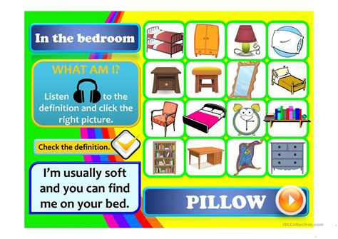 fun games to play in the bedroom in the bedroom worksheet free esl projectable worksheets