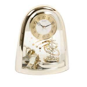 Mantel Clock Contemporary Rhythm Contemporary Motion Mantel Clock Gold Gilt Spiral