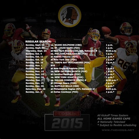 redskins schedule 2015 2016 printable calendar template 2016