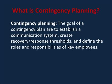 Disaster Recovery Roles And Responsibilities by Contingency Planning And Disaster Recovery Planning