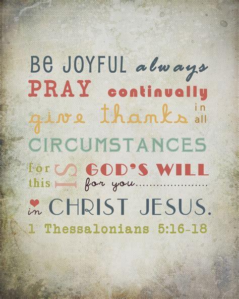 Thanksgiving Prayers In The Bible Bible Verse Wall Art Be Joyful Always Pray Continually