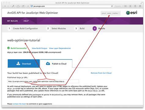tutorial arcgis javascript arcgis api for javascript web optimizer guide arcgis