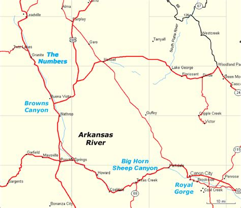 us map with arkansas river arkansas river raft trips map