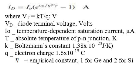 diode characteristics equation diode current equation and terminal characteristics