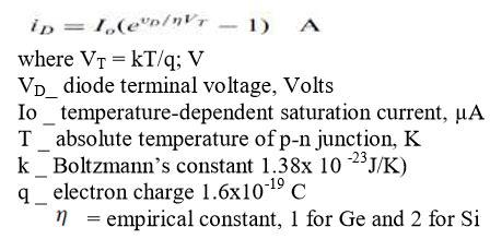 explain diode current equation diode current equation and terminal characteristics
