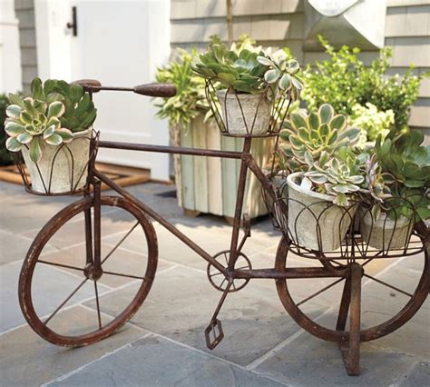 Iron Bicycle Planter by Bicycle Garden Decor Home Design Scrappy