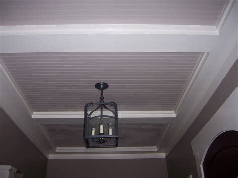 beadboard ceiling ideas beadboard ceiling with low coffers dining room