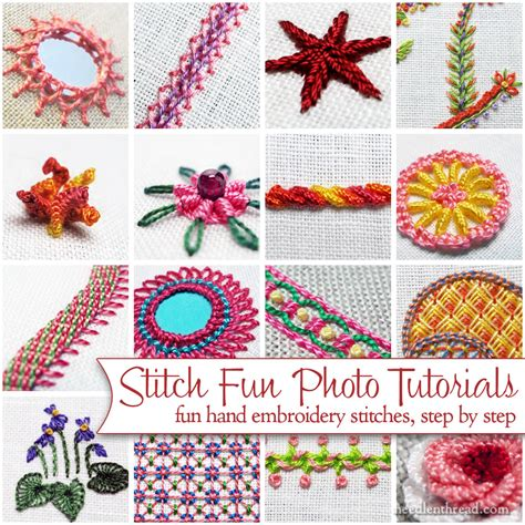 Handmade Embroidery Stitches - stitch index needlenthread