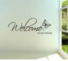 Free Wall Stickers Free Shipping Welcome To Our Home Removable Vinyl Wall