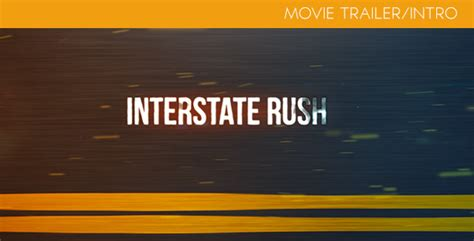 dafont interstate after effects project videohive interstate rush movie