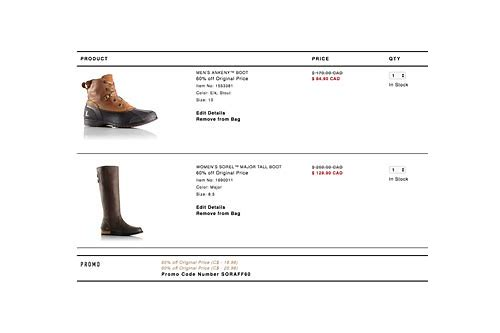 sorel coupon canada