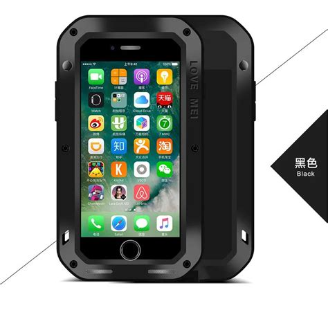 mei metal aluminum water resistant armor cover for iphone 7 6 plus 6s ebay