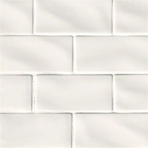 Handcrafted Tile - buy whisper white 3x6 glazed handcrafted subway tile