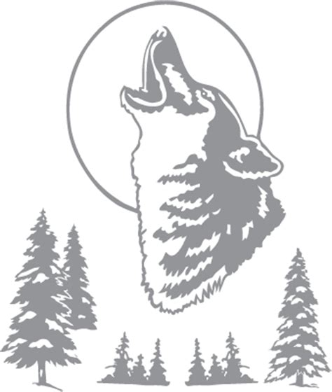 pattern stencil templates wolf moon and trees pre cut patterns