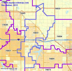 Oklahoma Zip Code Map by Similiar Okc Zip Codes Keywords