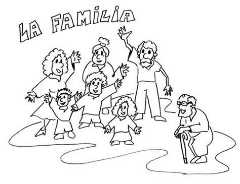 imagenes de la familia sin color im 225 genes del d 237 a de la familia para pintar colorear e