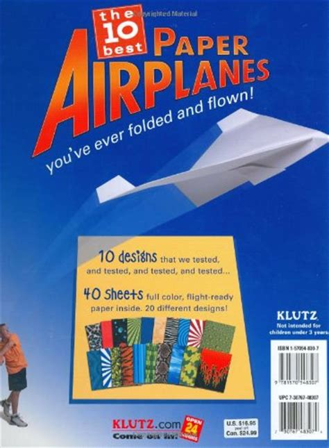 book of paper airplanes klutz book of paper airplanes craft kit desertcart