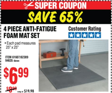 Anti Fatigue Foam Mat Set by Harbor Freight Tools Coupon Database Free Coupons 25 Percent Coupons Toolbox Coupons 4