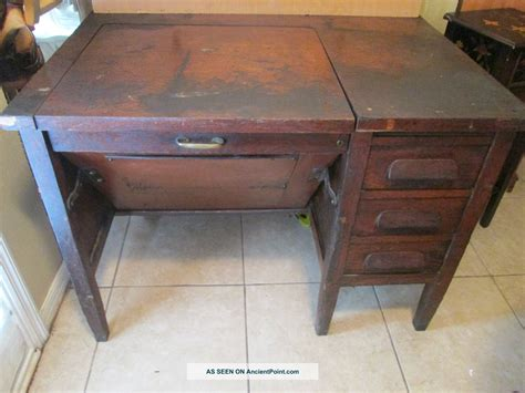 Vintage Wood Desks by Desk Jem Woodworking Cabinets