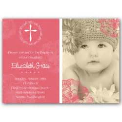 cross jubilee photo baptism invitations paperstyle