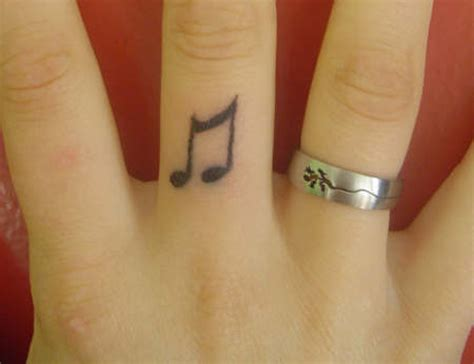 finger tattoo music note a roundup of cool finger tattoo ideas colorlap