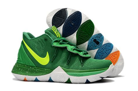 nike kyrie  green volt white mens basketball shoes