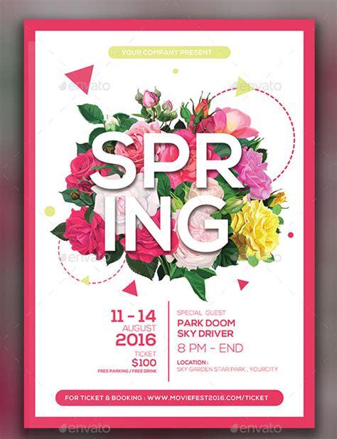 20 spring flyer templates psd vector eps jpg download