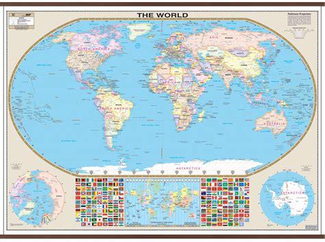 world large scale wall map kappa map group