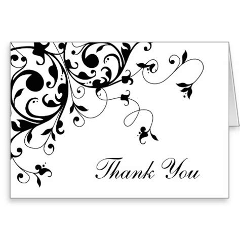Thank You Card Template Black And White 7 Best Images Of Black And White Thank You Cards Printable Black And White Thank You Card