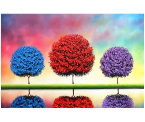 colorful trees whimsical tree colorful trees original painting