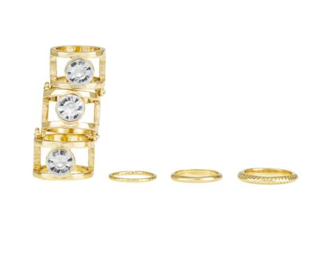 rhinestone knuckle ring set sets rings womens jewelry