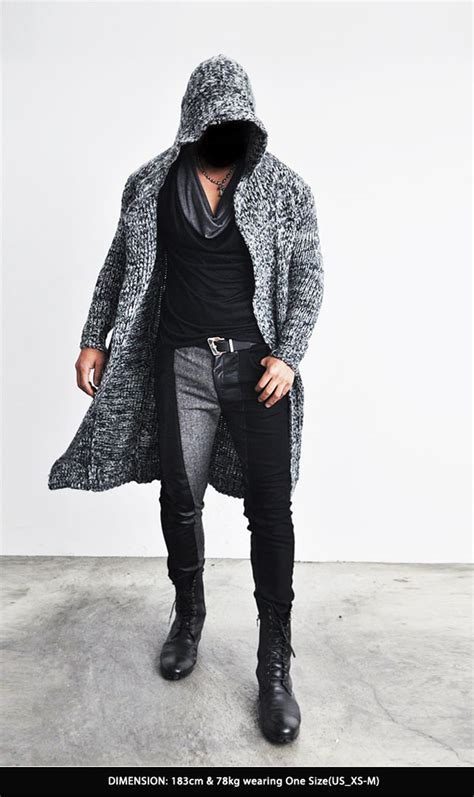 Knit Cloak Outer edge designer homme mens chunky wool knit cape