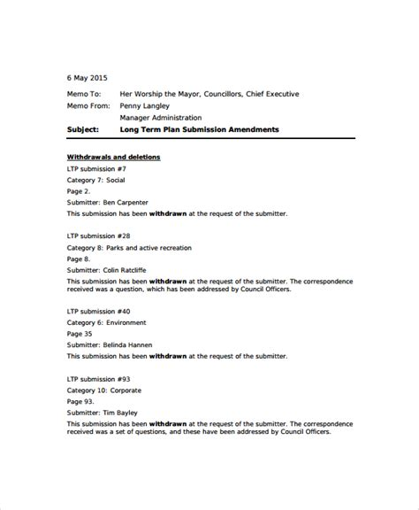 Memo Template Doc Sle Standard Memo Template 6 Free Documents In Word Pdf