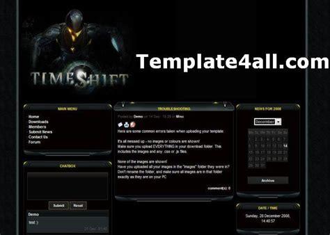drupal themes clan free yellow black games e107 theme template download