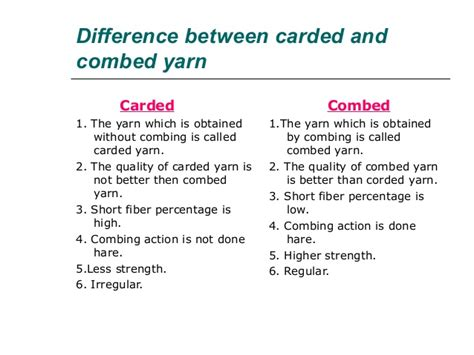 difference between corded and combed yarn xinxiang zhuocheng special textile co ltd