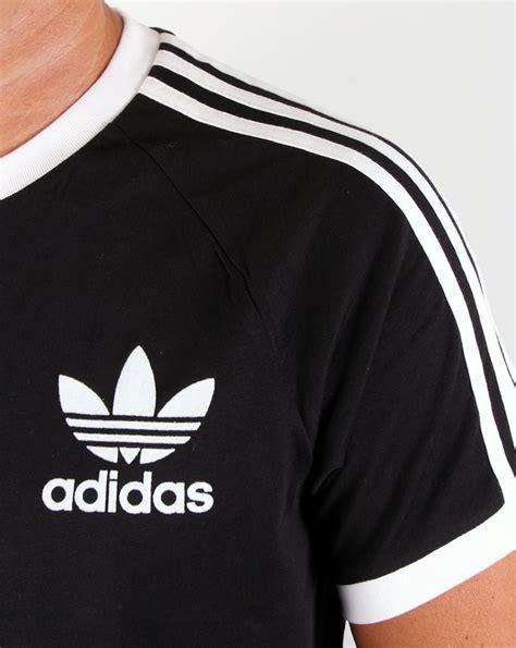 Adidas Stripe adidas originals retro 3 stripes t shirt black california