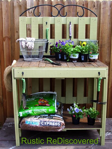 pallet potting bench party junk 186 potting benches funky junk