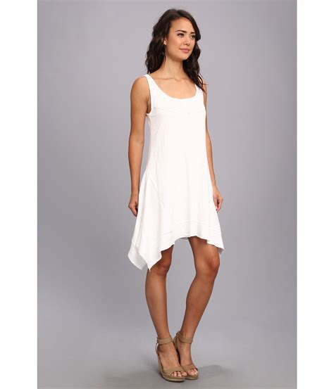 White Tank Dress by Dkny Handkerchief Tank Dress In White Lyst