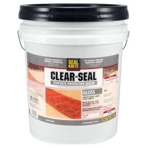seal krete 5 gal gloss clear seal concrete protective