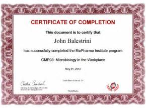 sample biopharma institute certificate biopharma