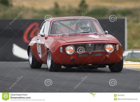 alfa romeo classic gta alfa romeo guilia gta race car editorial photography