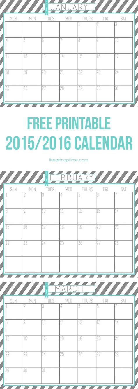 printable calendar 2016 oh so lovely 2016 free printable calendars lolly jane