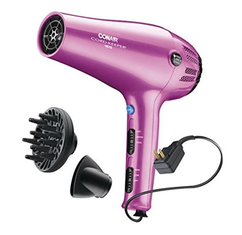 Conair 1875 Hair Dryer Pink conair 1875 watt cord keeper hair dryer pink wantitall