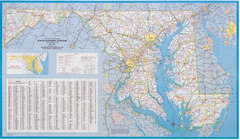 map of md large scale detailed highway map of maryland state 1980 vidiani maps of all countries