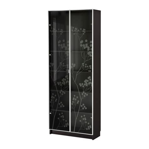 Billy Bookcase With Glass Doors Black Brown Ikea Ikea Billy Bookcase With Glass Doors