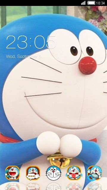 themes facebook doraemon download doraemon icon theme for your android phone