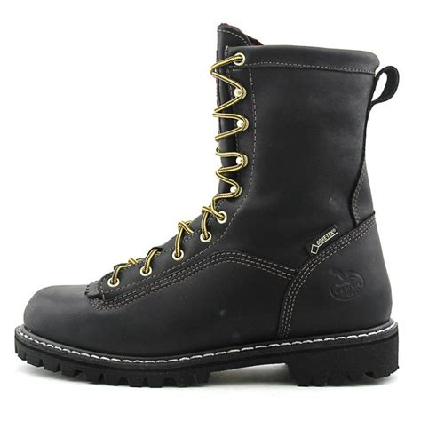 boot 8 quot logger leather black work boot boots
