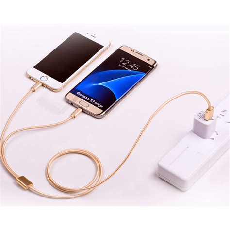 Usb Cable For Iphone Lightning Cable Smartphone Tablet For Dji hoco x2 2 in 1 lightning and micro usb braided cable for