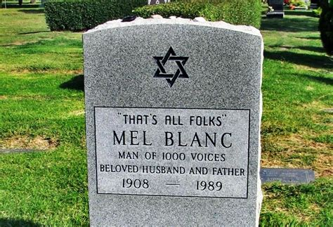 Ballard Design Code tombstone of mel blanc who provided the voice of bugs