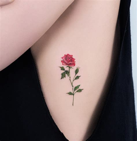 small roses tattoo 50 tiny tattoos to feed your and the beast